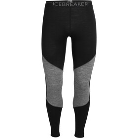 Icebreaker 200 Oasis Deluxe Leggings Heren, black/gritstone heather